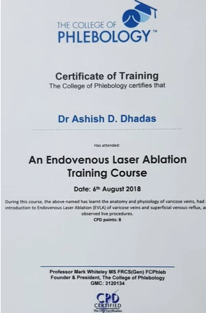 certificate of tranning